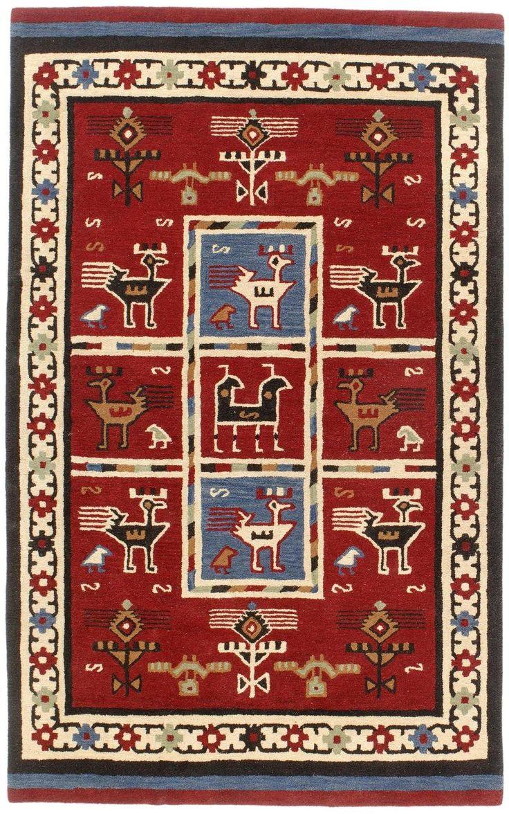 Traditions Tribal Burgundy Rug