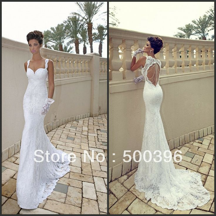 Hot sale sexy sweetheart backless lace weddings events for Backless wedding dresses for sale