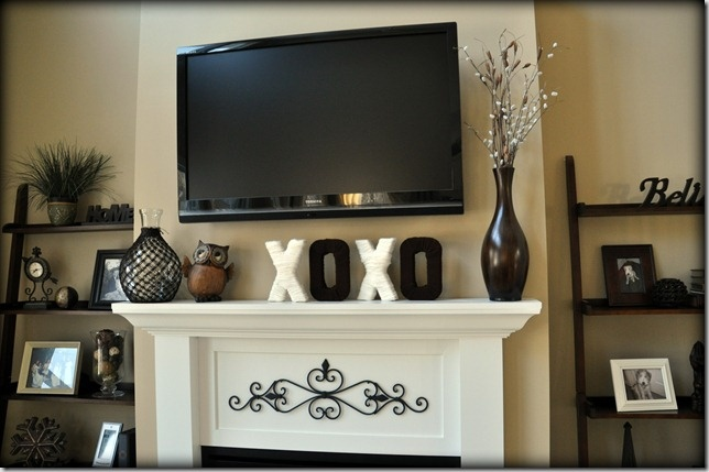 Love the mantle and side shelves