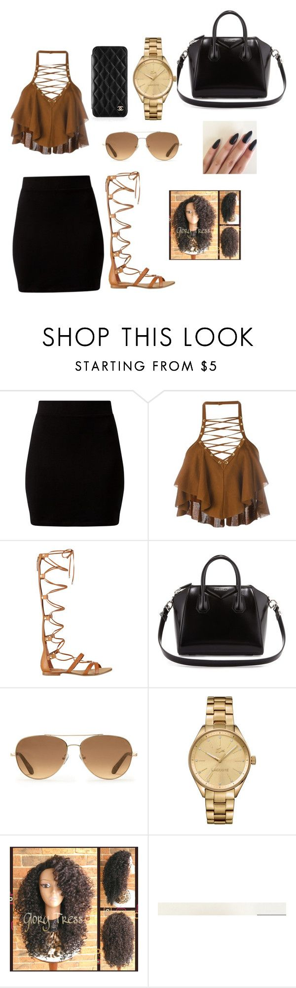 """""""My new 2016 shopping outfit """" by fashion-is-my-everything ❤ liked on Polyvore featuring Balmain, GUESS, Givenchy, Stella & Dot, Lacoste and Chanel"""
