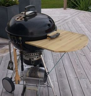 DIY folding table for Weber grill
