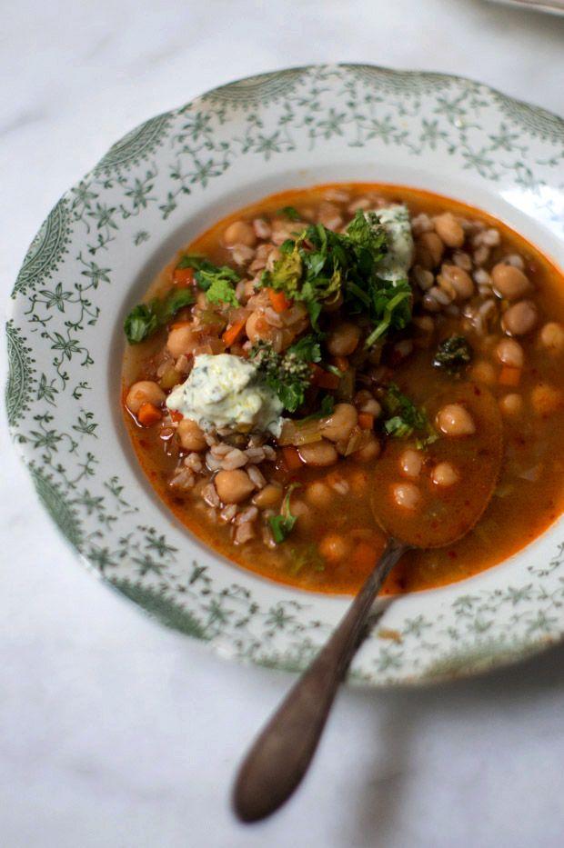 Yotam Ottolenghi's Spicy Chickpea and Bulgur Soup