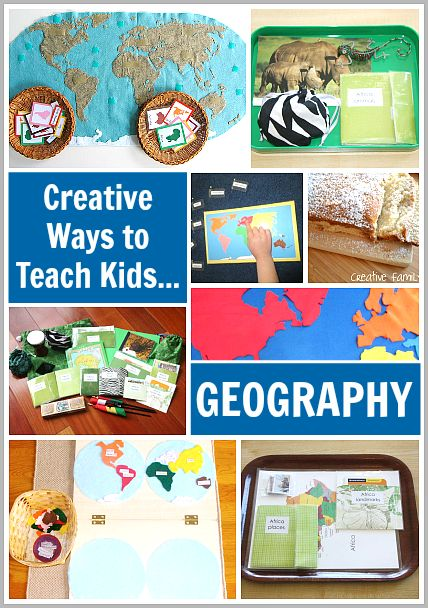 Tons of Creative Ways to Teach Your Kids Geography! from @Sonia S S S Thorne and Buddy