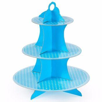 Bebeğin doğum günü partisi mavi üç kat kağıt şekerleme kek pasta tatlı şeker parti dekorasyon tedarik ikmal