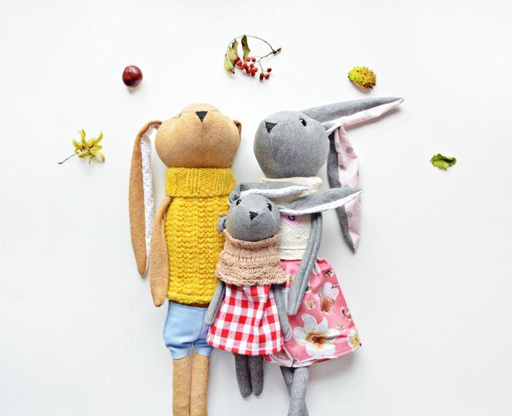 Królicza Rodzina w Lady Stump - oryginalne zabawki handmade na DaWanda.com