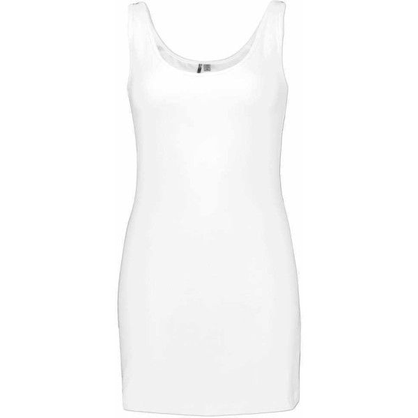 BKE Scoop Tank Top - White Large ($17) ❤ liked on Polyvore featuring tops, white, white low tops, white top, scoop top, low top and extra-long tank tops