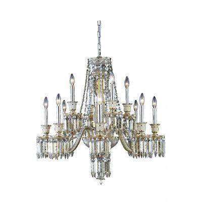 Elegant Lighting Majestic 12 Light Crystal Chandelier