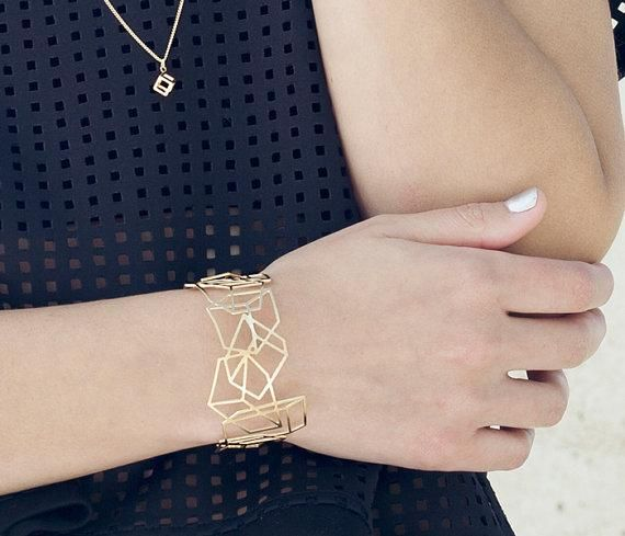 bracelet composition argenté de Shlomit Ofir