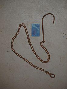 Håkjerringongel brukt til linefiske. Forsyn av kjetting.