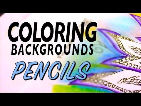 Coloring Backgrounds : Pencil Basics (1 of 5 Series) - YouTube