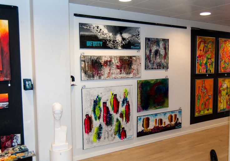 Photo from my exhibition at Kunstkælderen from July 2015 - Art by Lønfeldt - Art original acrylic abstract paintings