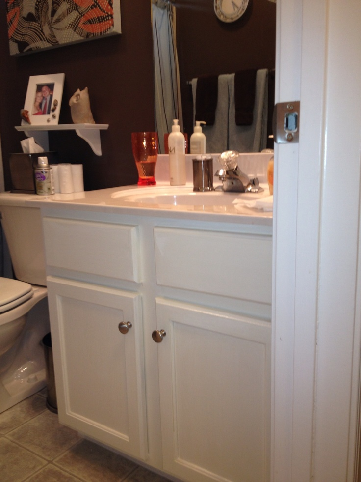 31 Best Images About Bathroom Ideas On Pinterest Rustoleum Cabinet Transformation Painting