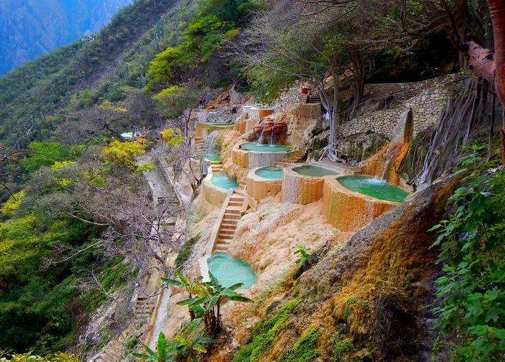 Grutas де Tolantongo, природные горячие источники, Идальго, Мексика