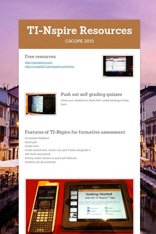 TI-Nspire Resources/Notes #mathchat #edtech