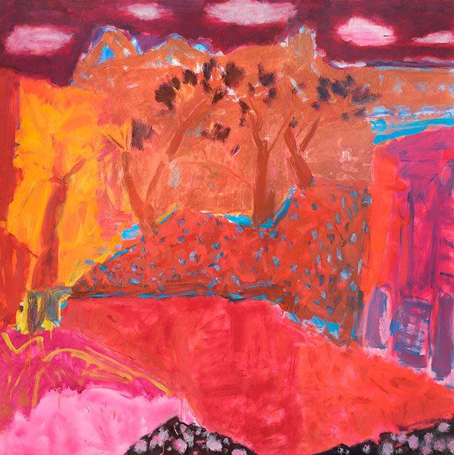 © Jo Bertini ~ Tree River Canyon ~ 2016 oil on canvas at Olsen Irwin Gallery Sydney Australia