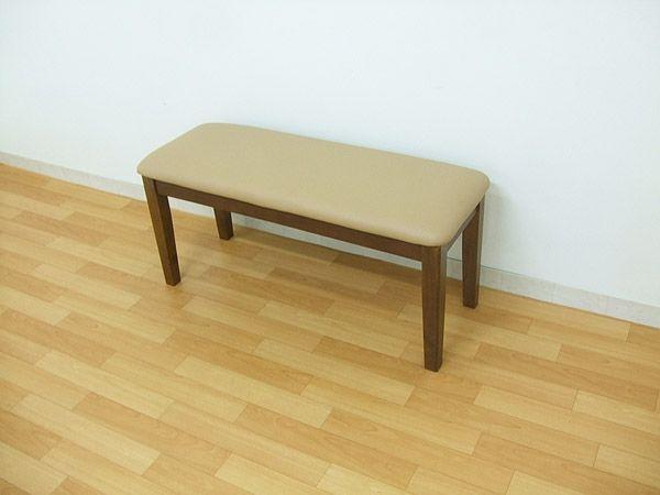 Modern Chairs 95ベンチチェアsolnクッション木製2人用ミドルブラウン玄関イス 北欧 インテリア 雑貨 家具 ¥6600yen 〆08月29日
