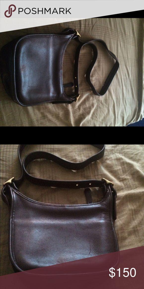 Coach pocketbook Coach leather Chocolate brown shoulder bag Bags Shoulder Bags
