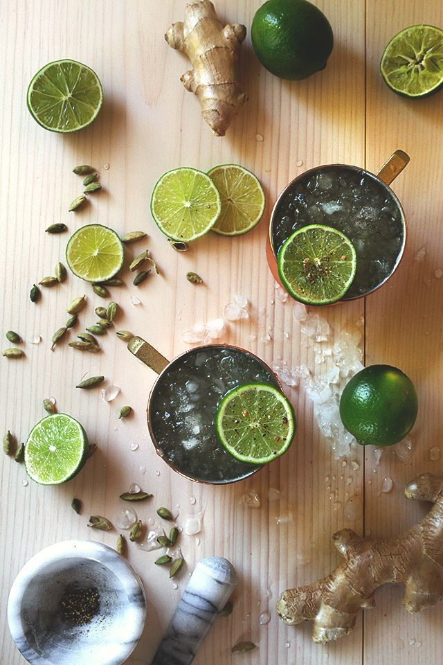 Cardamom Moscow Mule. Good Lord Yes!! If only just for the recipe to make Cardamom Ginger Ale!!
