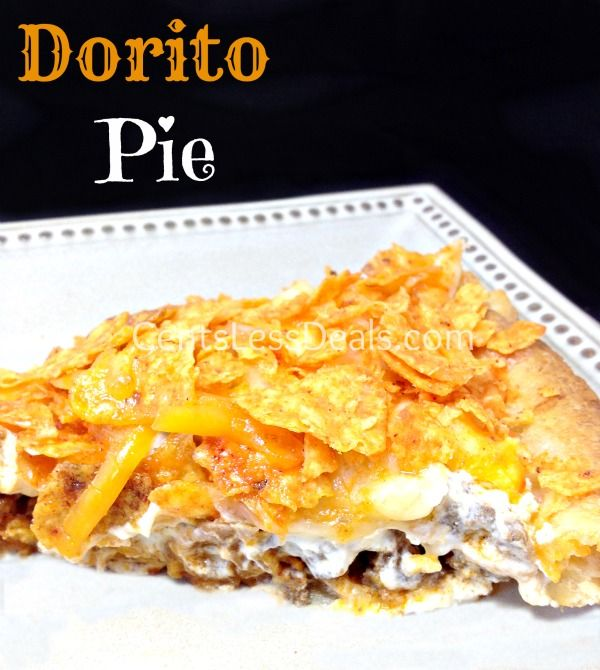 Dorito Pie recipe. I've been looking everywhere for this!! This is crazy delicious, especially if you add salsa! // Ground beef: https://www.zayconfoods.com/campaign/27