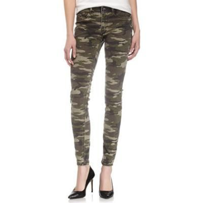 $79, Olive Camouflage Skinny Pants: Fade to Blue Camouflage Print Skinny Jeans. Sold by Last Call by Neiman Marcus.
