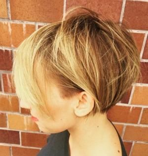 Short Messy Bob Hairstyle by ursula