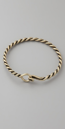 Madewell bracelet $22!  love bangles with funky hooks  Love simple jewelry like this!