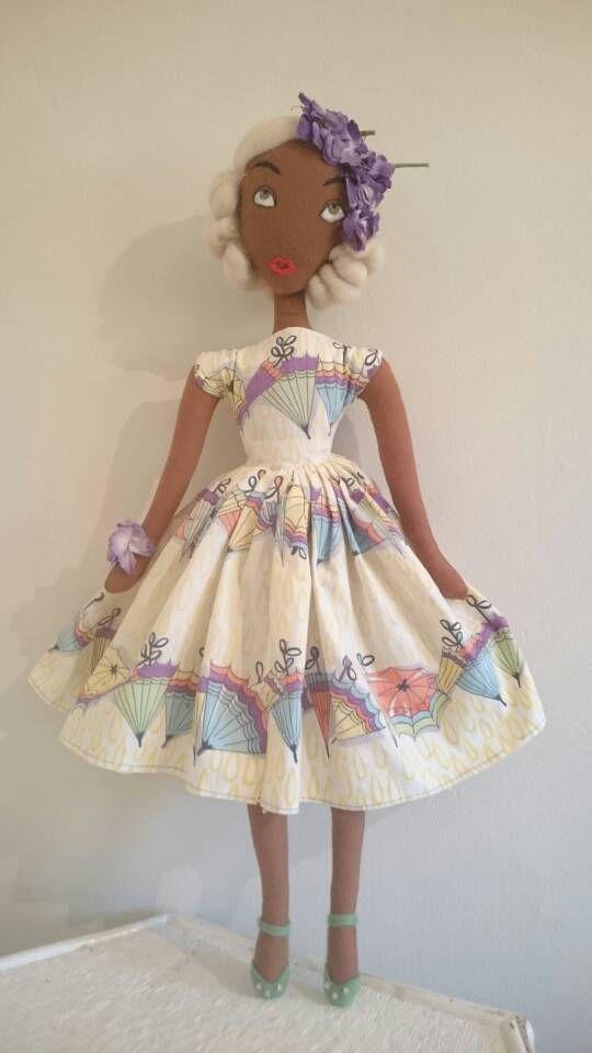 Nancy April Showers Vintage 1950s Novelty Dress Inspired