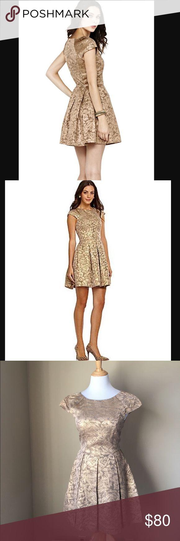 Selling this French Connection Blousy Bloom Jacquard gold dress on Poshmark! My username is: ngrano. #shopmycloset #poshmark #fashion #shopping #style #forsale #French Connection #Dresses & Skirts