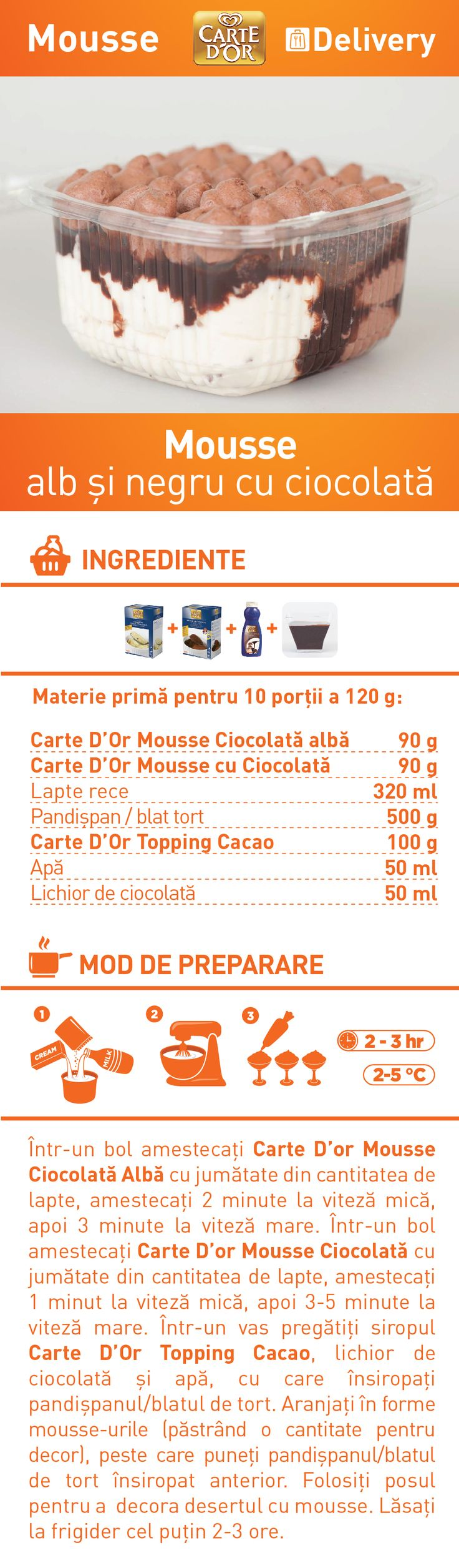 Mousse alb si negru cu ciocolata - RETETA