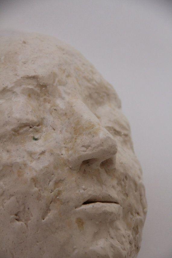 handmade ceramic face stoneware figure white by GabrielleLoTurco, $75.00