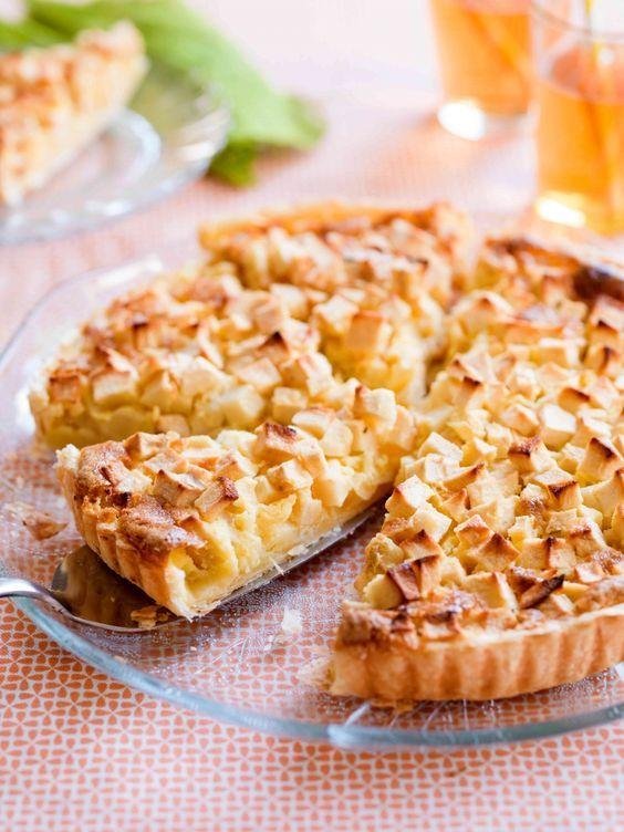 Flan met appel - Libelle lekker (met ei, vanille/maizena mengsel)