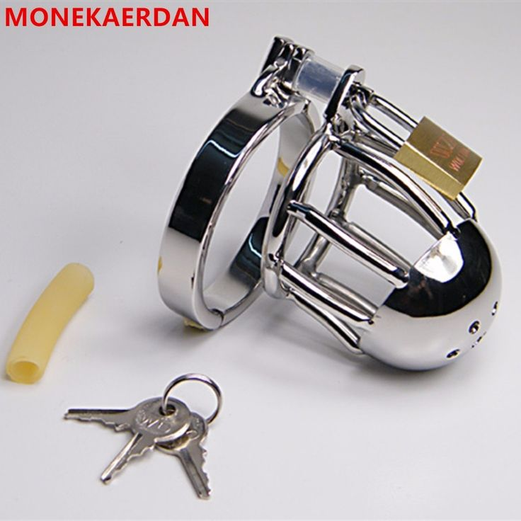 26.99$  Buy here - Cock Cage Penis Rings Stainless Steel Metal Chastity Device In Adult Games , Fetish Sex Toys For Men  #buymethat
