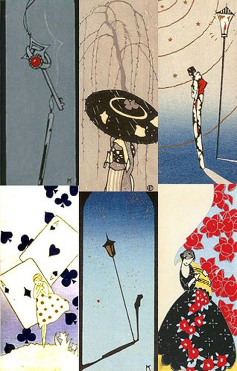 【乙女デコ】大正ロマン溢れるアール・デコスタイル。小林かいちの花開いた絵葉書が素敵。 | ARTIST DATABASE/アーティストデータベース
