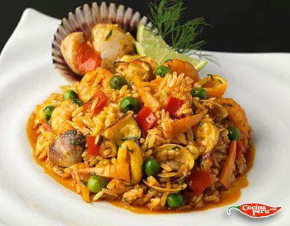 Arroz con mariscos Receta: http://www.cocinaperu.com/platos-de-fondo/arroz-con-mariscos