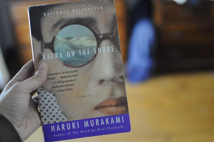 Front of book cover - Kafka on the Shore by Haruki Murakami This I never heard of but I want it!!