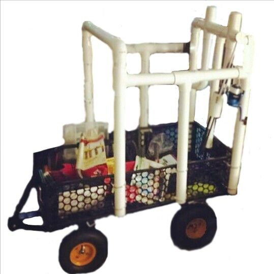 17 best images about beach carts on pinterest pvc pipes for Homemade fishing cart