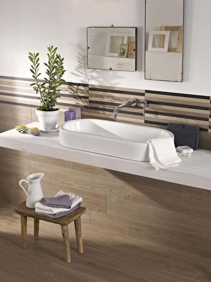 #Marazzi Treverk04 | bathroom wood-like stoneware with thin thickness