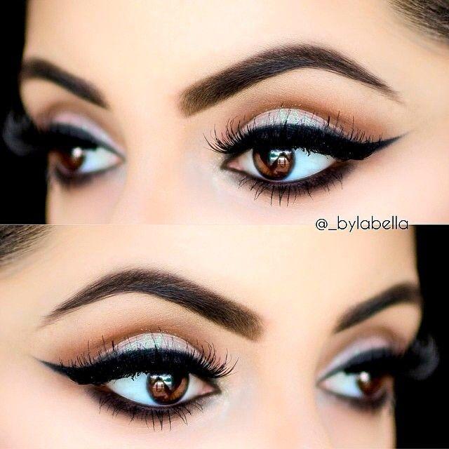 Bold black eyeliner