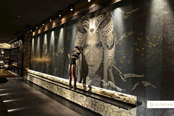 This beautiful Bisazza Mosaic art done by us can be found at SKYE, Jakarta. The design possibilities with Bisazza and Citatah are limitless!