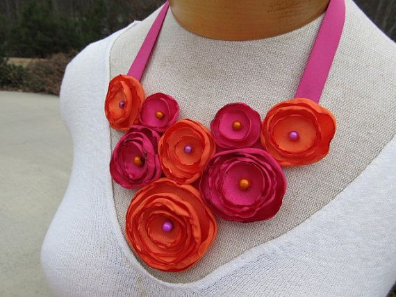 Hey, I found this really awesome Etsy listing at https://www.etsy.com/listing/177401749/stunning-fuchsia-and-orange-satin-flower