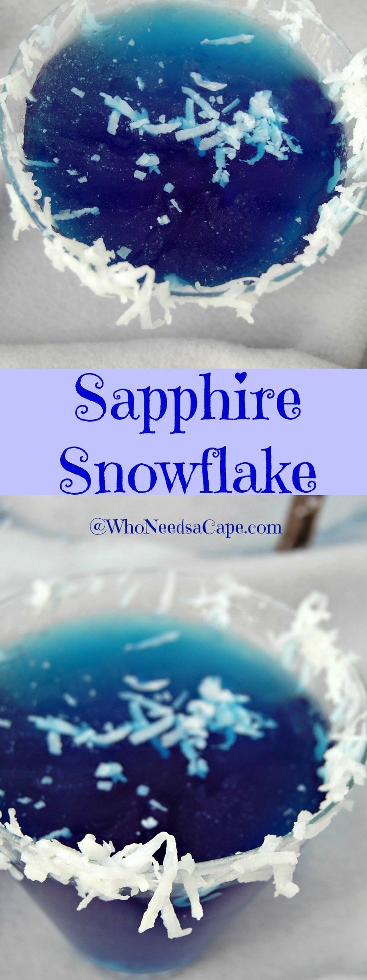 Sapphire Snowflake is a Tropical Tasting Martini It will get rid of the winter blues for sure!