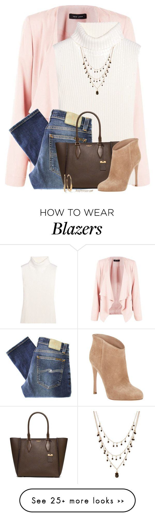 """""""Pink for Fall"""" by houston555-396 on Polyvore featuring moda, 1205, Nudie Jeans Co., Michael Kors, Gianvito Rossi, Nordstrom Rack y Ippolita"""