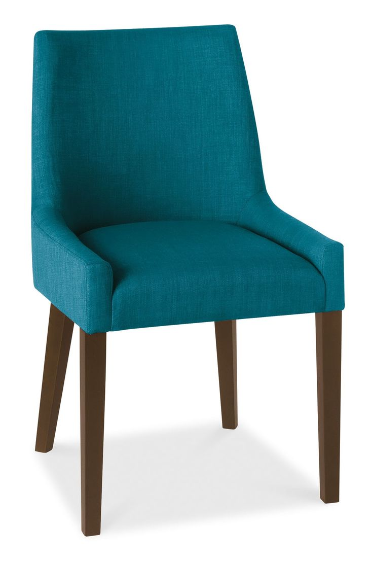 Curved dining bench with back - Ella Walnut Teal Fabric Scoop Back Dining Chairs Pair