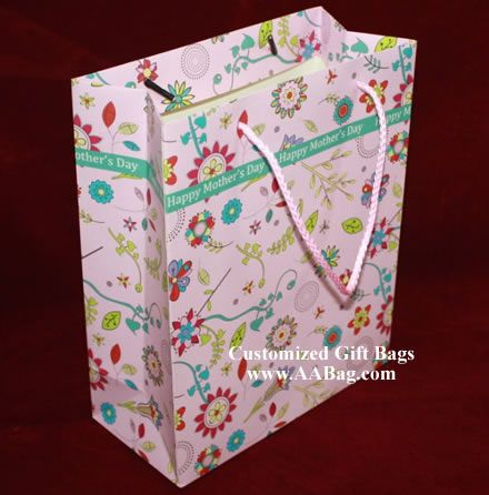 Gift Bag with Mother's Day's Theme. www.AABag.com