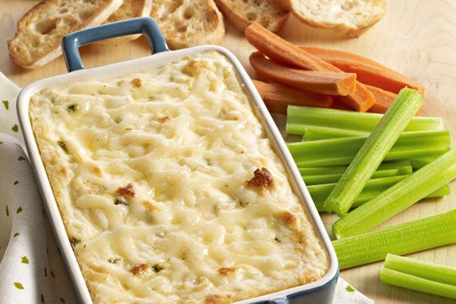 Trempette chaude au fromage, aux herbes et à l'ail