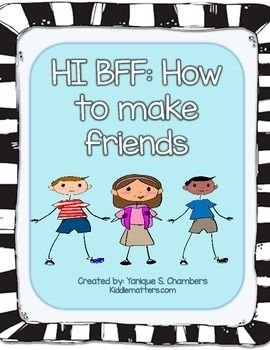 Free ebook that teaches children how to make friends and about the qualities of a good friend. Great for use with children who struggle with showing age appropriate social skills