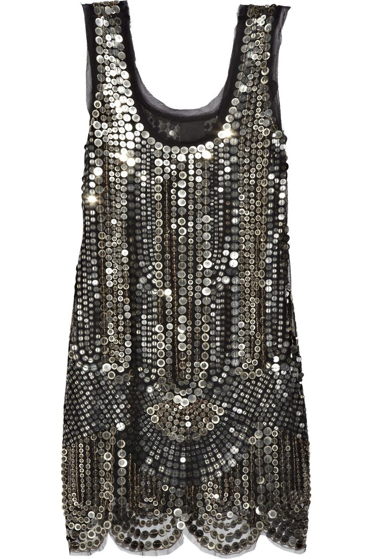 Anna Sui | Silk-tulle sequin-embellished dress | NET-A-PORTER.COM