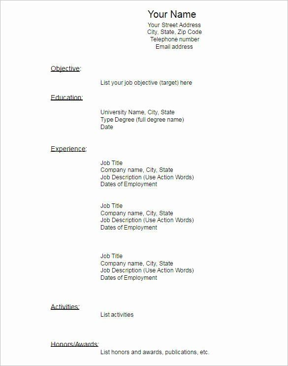 Blank Resume Template Pdf Awesome 22 Blank Resume Templates Free Pdf Word Documents Resume Template Resume Templates Resume Template Free