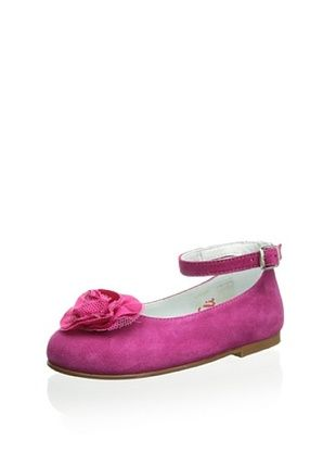 64% OFF Papanatas by Eli Kid's Ballet Flat with Ankle Strap (Carmin)