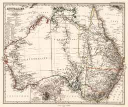 Antique Map of Australia Petermann, A. 1869